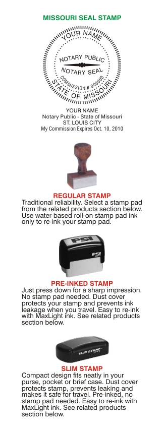 Notary Stamp Seals Missouri