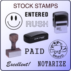 Stock Stamps, Real Estate Stamps, Attorney Stamps, Educator and Teacher Stamps