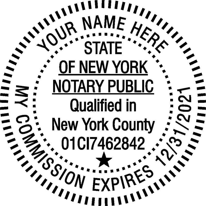 Notary stamp seals new york for New york state architect stamp