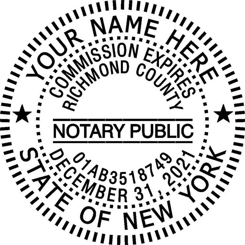 New york notary stamp seals for New york state architect stamp