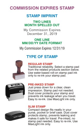 Commission Expires Stamp