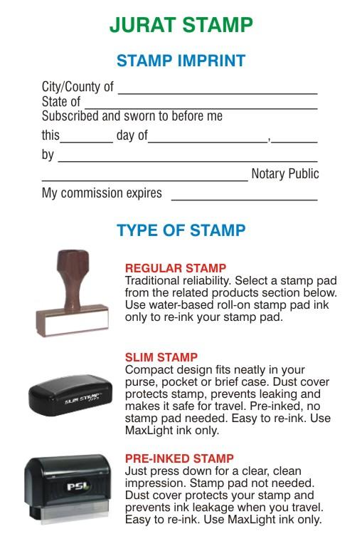 jurat    affidavit stamps