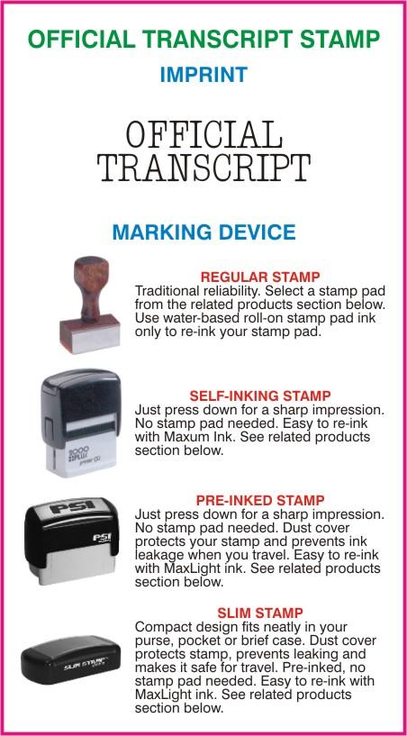 Official Transcript Stamps