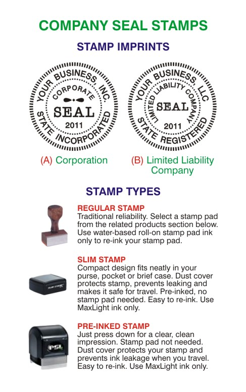 corporate stamp seals