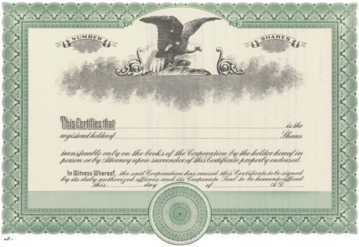 Duke 2 Stock Certificates