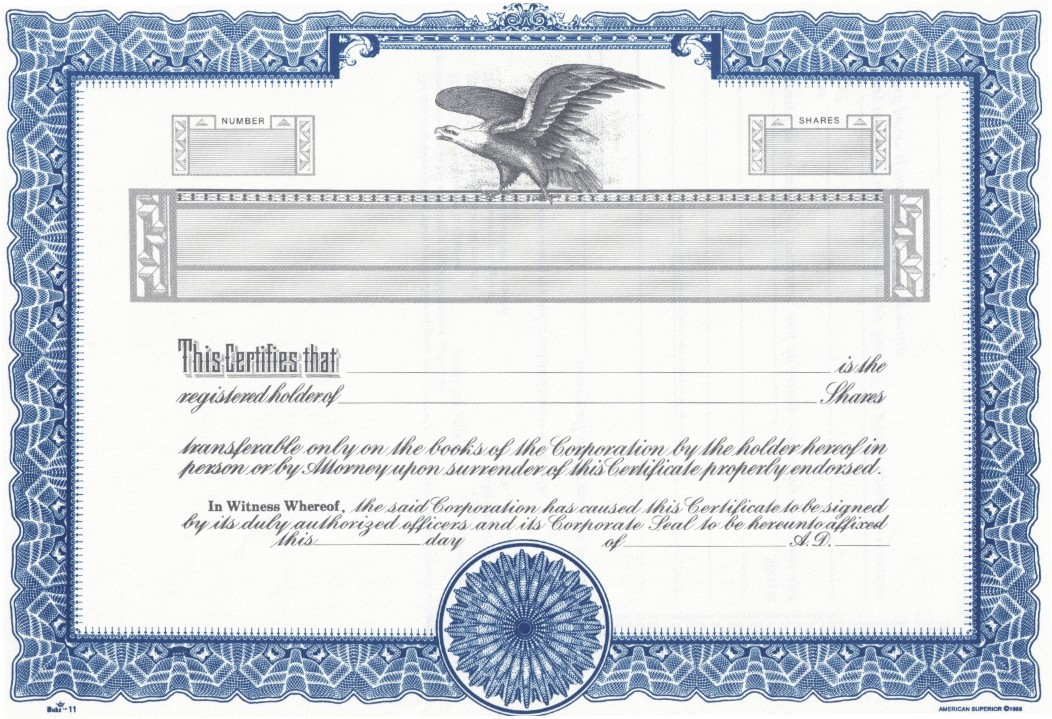It is a picture of Challenger Printable Stock Certificates