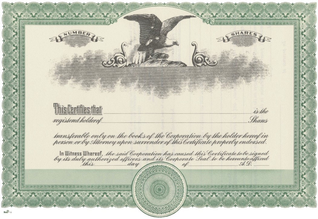 printable stock certificate template