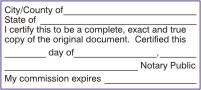 Who can certify copies of original documents?