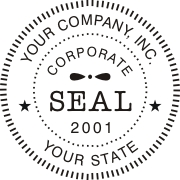 Corporate digital seals for Company stamp template