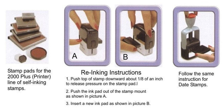 Cosco 2000 Plus Self Inking Stamp Replacement Pads