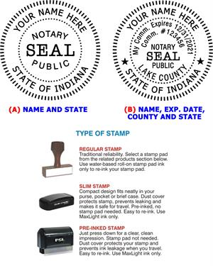 Notary Seal Stamp IN