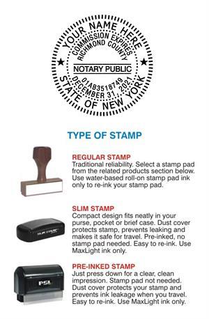 New York Notary Stamp Seals
