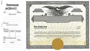 goes 73 Corporation Stock Certificates
