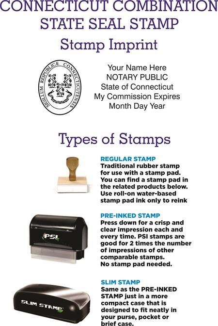 Notary Public Combination Stamp And Seal Connecticut