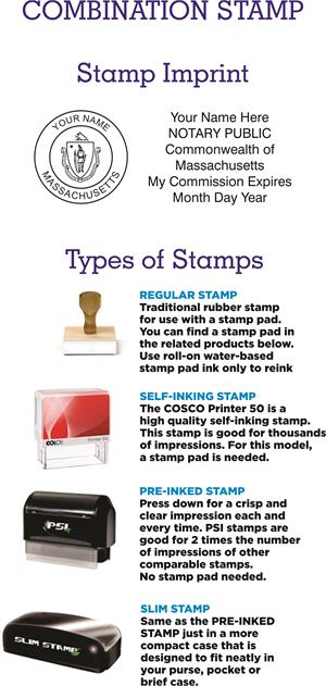 MA Notary Supplies And Stamps