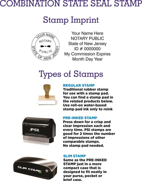 Combination Stamps New Jersey