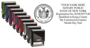 new york notary stamp, notary name expiration stamp, notary seal stamp