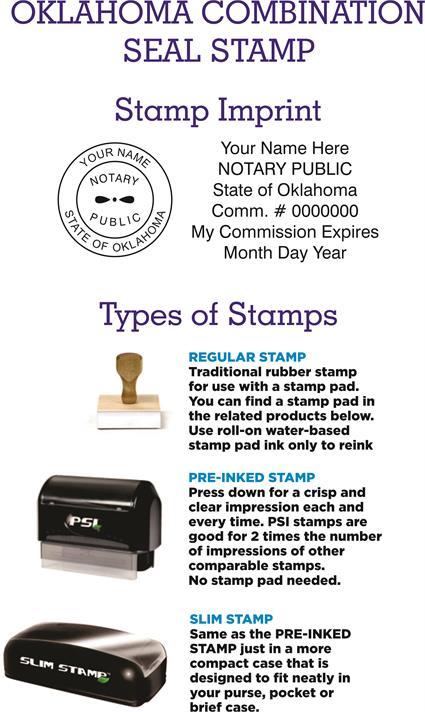 Combination Stamps Oklahoma