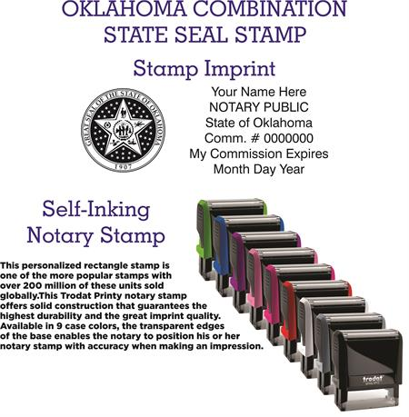 Combination State Seal Stamp Oklahoma