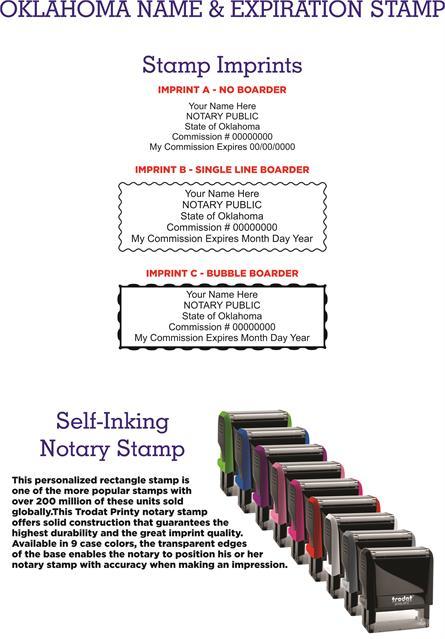 Name And Expiration Stamps Oklahoma