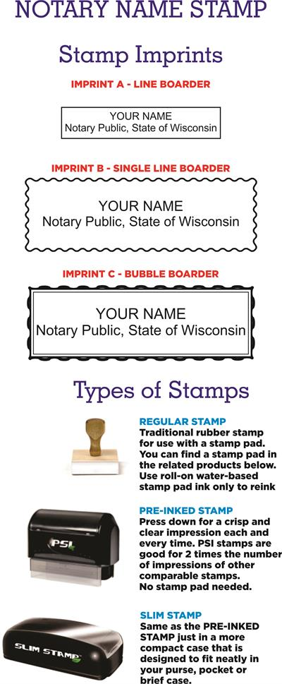 Name And Expiration Stamp WI