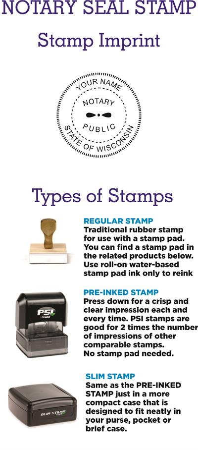 Notary Stamp Seal WI