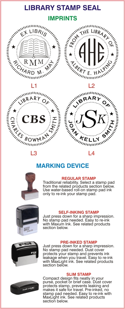 Library Stamp Seals