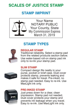 Scales of Justice Notary Stamp
