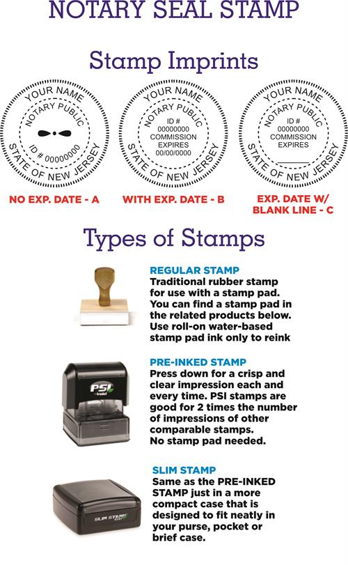 Notary Stamp Seals New Jersey