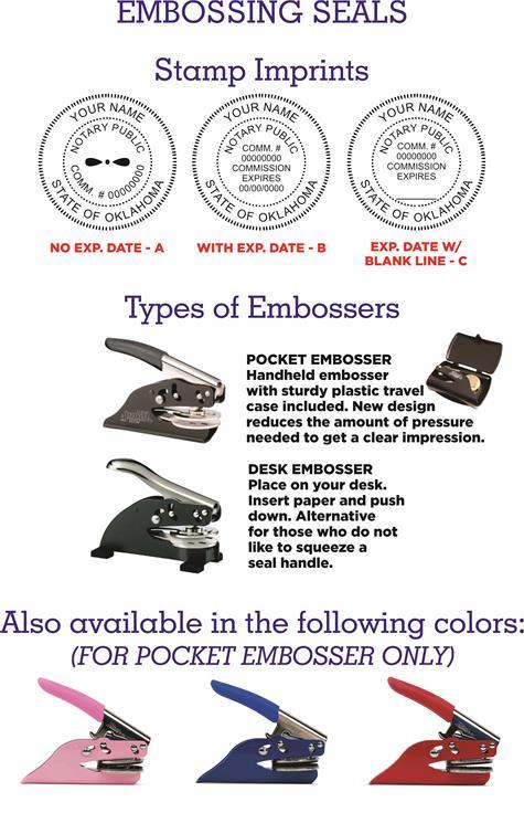Notary Embossing Seals Oklahoma