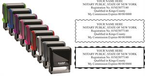 name & expiration new york notary stamp