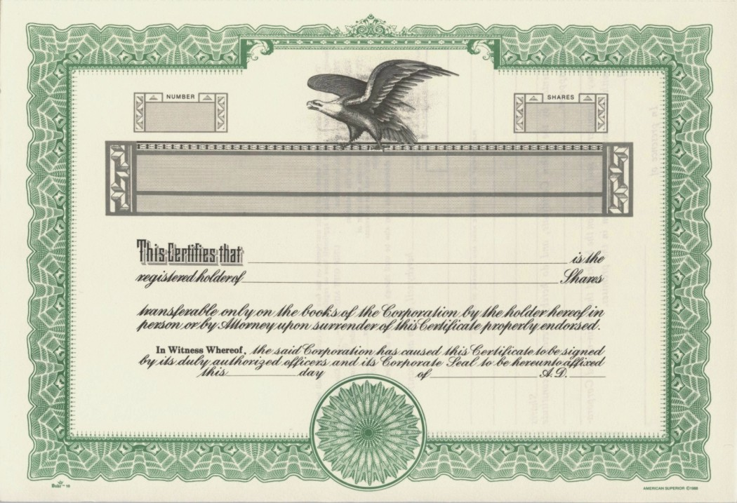 photo about Printable Stock Certificates referred to as Duke 10 Inventory Certificates