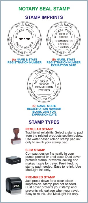 Notary Seal Stamp VA